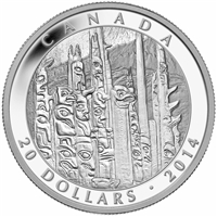2014 Canada $20 Celebrating Emily Carr Fine Silver (TAX Exempt)