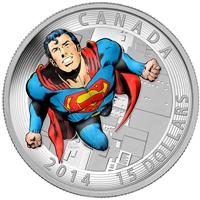 2014 Canada $15 Iconic Superman - Action Comics #419 (1972) TAX Exempt
