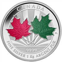2014 Canada $250 Maple Leaf Forever Fine Silver Kilo (No Tax)