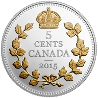 2015 5-cent Legacy of the Canadian Nickel - Crossed Maple Boughs (No Tax)