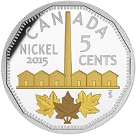 2015 5-cent Legacy of the Canadian Nickel - Identification of Nickel (No Tax)