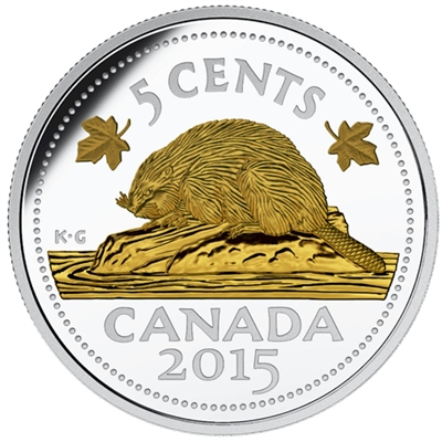 2015 5-cent Legacy of the Canadian Nickel - The Beaver (TAX Exempt)