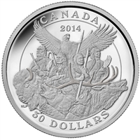 2014 Canada $30 National Aboriginal Veterans Monument (TAX Exempt)