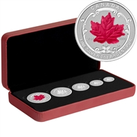 2015 Canada The Maple Leaf Fine Silver Fractional Set (No Tax) Worn Sleeve
