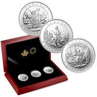 2015 Canada $5 Cornelius Krieghoff 200th Anniversary 3-coin Set (No Tax)