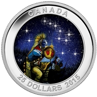 2015 Canada $25 Star Charts - The Quest (#1) Fine Silver (No Tax)