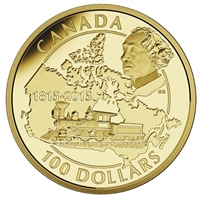 2015 Canada $100 200th Ann. Birth of Sir John A. Macdonald 14K Gold