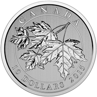 2015 Canada $10 Maple Leaf Fine Silver Coin (TAX Exempt)