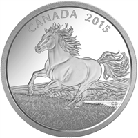 2015 $100 Canadian Horse ($100 for $100) Fine Silver (TAX Exempt)