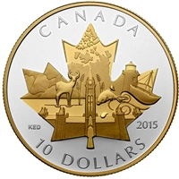 2015 Canada $10 Celebrating Canada Fine Silver (No Tax)