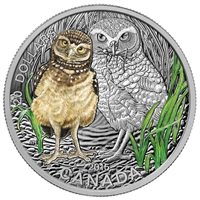 2015 Canada $20 Baby Animals: Burrowing Owl Fine Silver (No Tax)