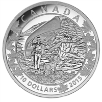 2015 $10 Canoe Across Canada - Wondrous West (#1) Fine Silver (No Tax)