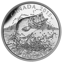 2015 Canada $20 North American Sportfish: Largemouth Bass (No Tax)