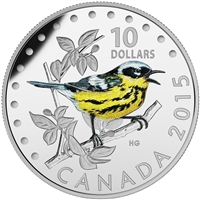 2015 Canada $10 Colourful Songbirds - The Magnolia Warbler (No Tax)