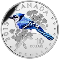 2015 Canada $10 Colourful Songbirds - The Blue Jay (No Tax)