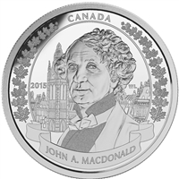 2015 Canada $20 Sir John A. Macdonald Fine Silver (No Tax)