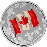 2015 Canada $25 for $25 Canadian Flag (#1) Fine Silver (No Tax)