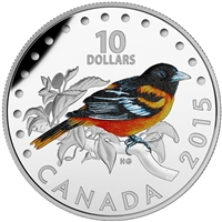 2015 Canada $10 Colourful Songbirds - Baltimore Oriole (TAX Exempt)