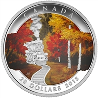 2015 Canada $20 Autumn Express Fine Silver Coin (TAX Exempt) 143187