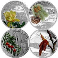 2015 Canada $20 Forests of Canada 4-Coin Set & Deluxe Box (TAX Exempt)