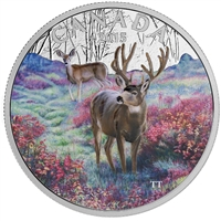 2015 Canada $20 Misty Morning Mule Deer Fine Silver (No Tax)