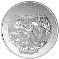 2015 $10 Adventure Canada Whitewater Rafting Fine Silver (No Tax)