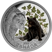 2015 Canada $20 Baby Animals - Black Bear Fine Silver (No Tax)