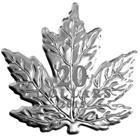 RDC 2015 $20 The Canadian Maple Leaf - Maple Leaf Shaped (TAX Exempt) - COA Bent