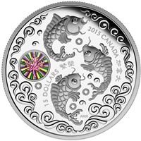 2015 Canada $15 Maple Hologram - Maple of Prosperity Fine Silver (No Tax)