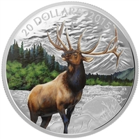 2015 Canada $20 Majestic Elk Fine Silver Coin (TAX Exempt)