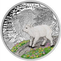 2015 Canada $20 Baby Animals - Mountain Goat Baby Fine Silver (No Tax)