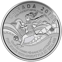 2015 Canada $20 FIFA Women's World Cup ($20 for $20 #15) TAX Exempt