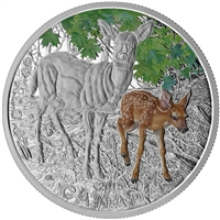 2015 Canada $20 Baby Animals - White-Tailed Deer Fine Silver (No Tax)