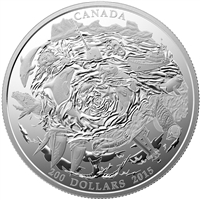 2015 Canada $200 Coastal Waters ($200 for $200 #2) 2oz. Fine Silver (No Tax)