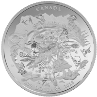 2015 $200 Canada's Rugged Mountains ($200 for $200 #3) 2oz. Fine Silver (No Tax)