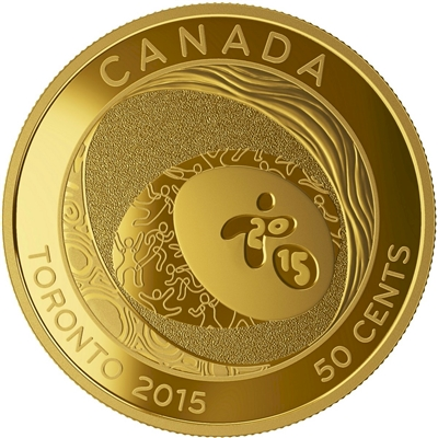 2015 Canada 50-cent Celebrating Excellence - Pan AM Games Gold-Plated