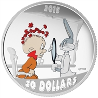 RDC 2015 Canada $30 Looney Tunes Classic 2oz Rabbit of Seville (No Tax) Scratched