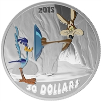 2015 Canada $30 Looney Tunes - Fast and Furryous 2oz. Fine Silver (No Tax)