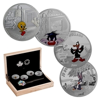 2015 Canada $20 Looney Tunes Classic Scenes 4-coin with Watch (No tax)
