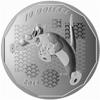 2015 Canada $10 Looney Tunes Sylvester Suffering Succotash! (No Tax)