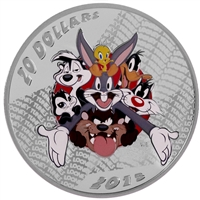 2015 Canada $20 Looney Tunes Classic Scenes Merrie Melodies (No Tax)