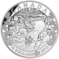 2015 $10 Canoe Across Canada - Exquisite Ending Fine Silver (No Tax)