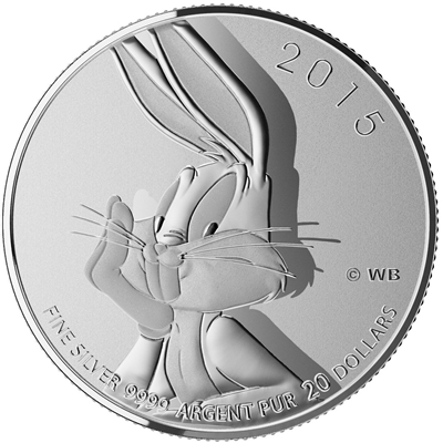 2015 Canada $20 Bugs Bunny Looney Tunes ($20 for $20 #16) Tax Exempt