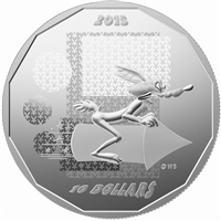 2015 Canada $10 Looney Tunes Wile E. Coyote - Super Genius (No Tax)