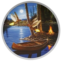 2015 Canada $30 Moonlight Fireflies Fine Silver (No Tax)