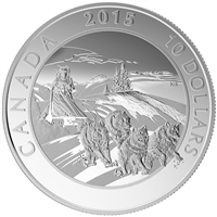 2015 $10 Adventure Canada - Dog Sledding Fine Silver (No Tax)