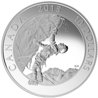 2015 $10 Adventure Canada - Ice Climbing Fine Silver (No Tax)