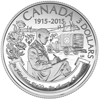 RDC 2015 Canada $3 100th Anniversary of In Flanders Fields Silver (No Tax) missing sleeve