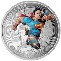RDC 2015 Canada $20 Iconic Superman: Action Comics #1 (2011) Silver (No Tax) Scuffed