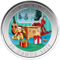 2015 Canada 50-cent Holiday Toy Box Lenticular Coin
